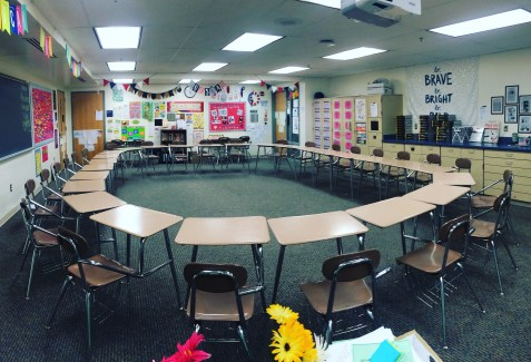 Socratic seminars, a student-led discussion that allows students to take ownership of their learning