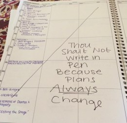 My lesson planning book from my first year of teaching