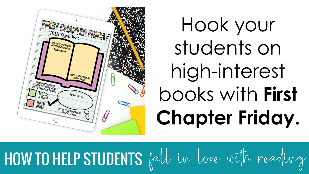 Hook your students on high-interest books with First Chapter Friday.