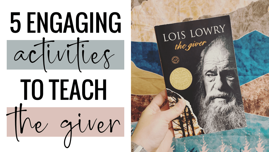 5 Engaging Activities to Teach The Giver