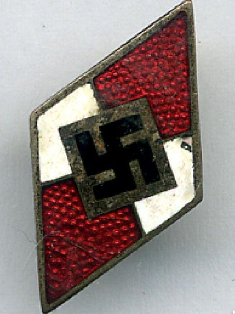 I didn't know this was a Hitler Youth badge until I looked it up tonight. More chickens coming home to roost.