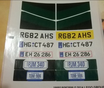 You can put different number plates on the car