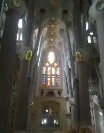 On the left aisle of the Sagrada Familia