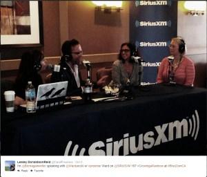 Lesley Donaldson on the radio