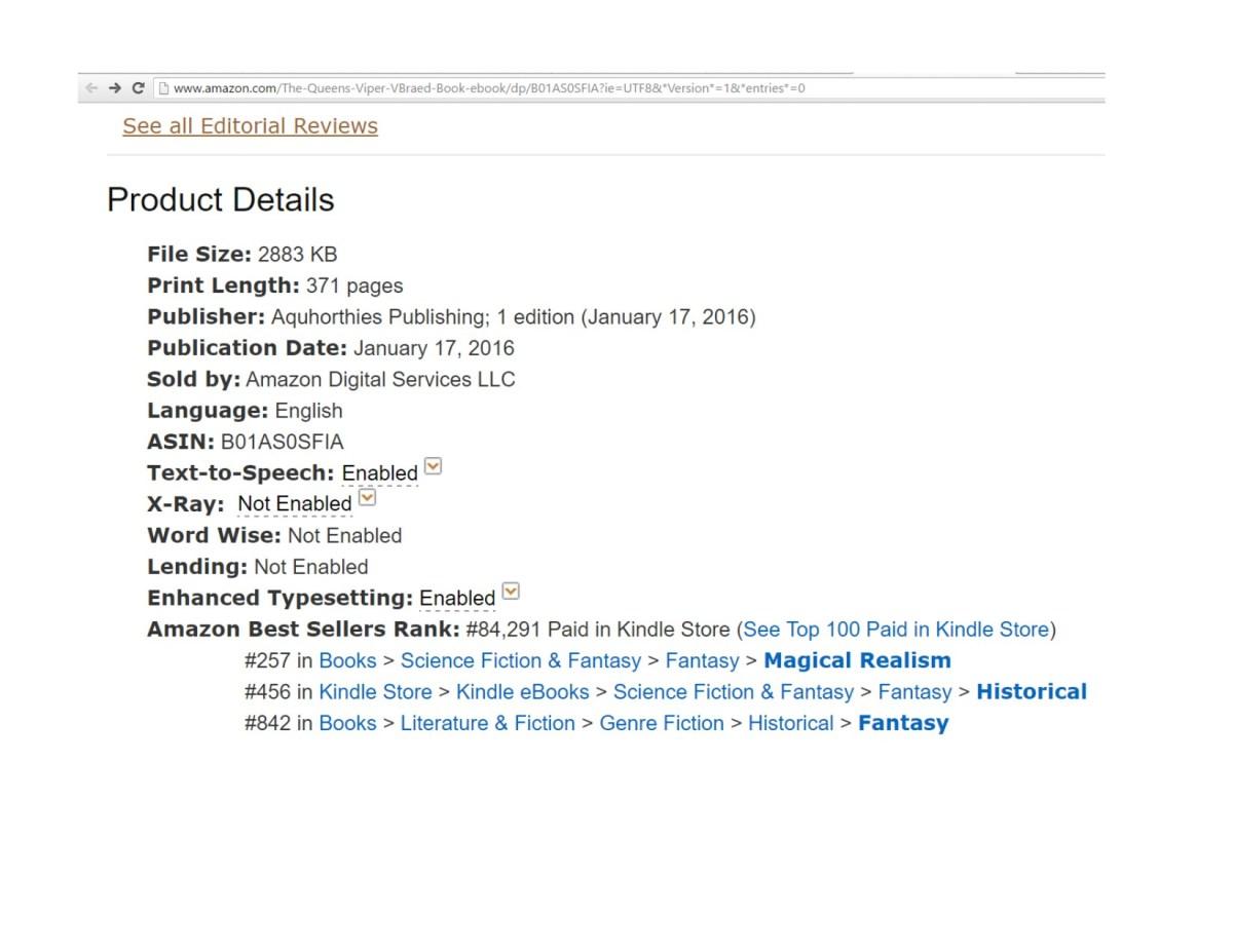 #Amazon #Fantasy The Queen's Viper