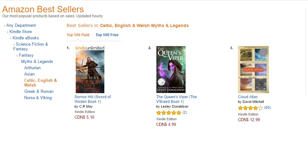 Amazon best seller fantasy, Queen's Viper bestseller