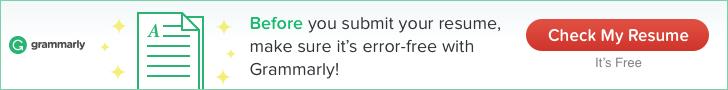 Grammarly Resume Checking