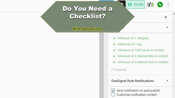 A Checklist in WordPress