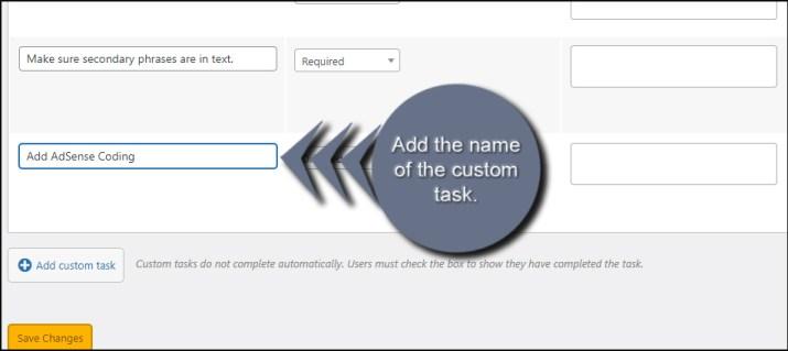 Add Custom Name
