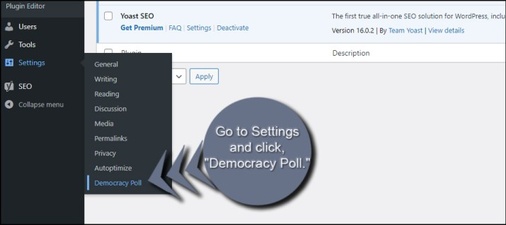 Democracy Poll Settings