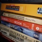 Reference books in a stack