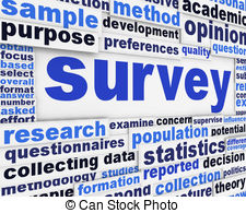 a clipart image of words related to the idea of a survey.
