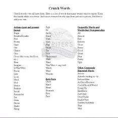 Crutch Words List_Writers Helping Writers Download