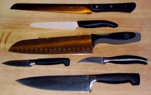 Collection of knives in various sizes