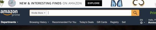 Amazon Search Bar example