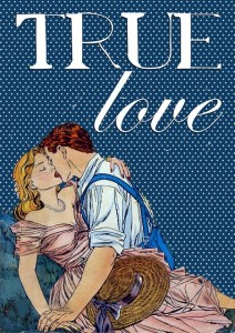 Vintage book cover art: TRUE LOVE