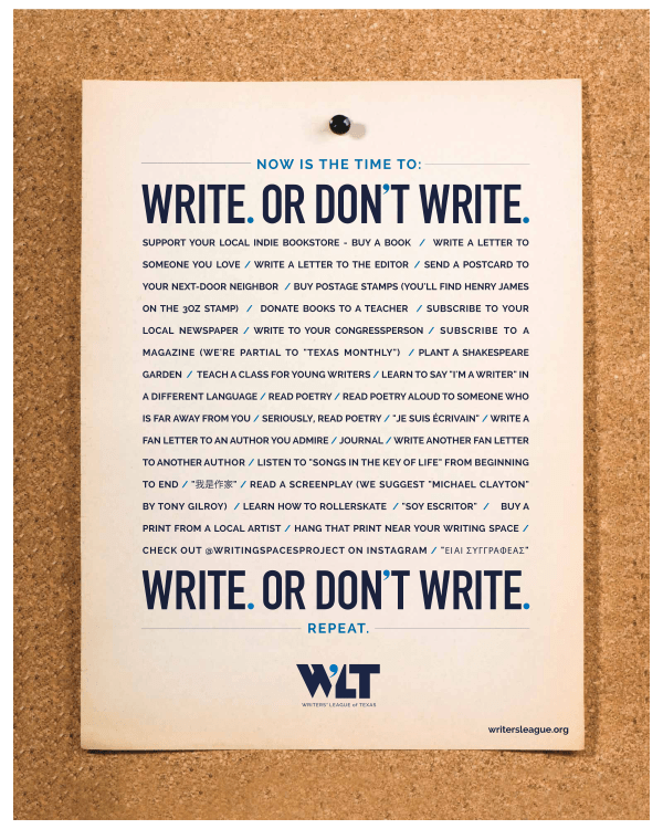 write or don't write poster