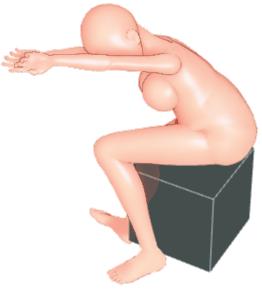 背中と腕のストレッチ体操