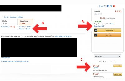 "IS THIS EVEN LEGAL?! Amazon is Giving Their Main ""Buy Buttons"" to Book Depository, Which AMAZON Owns AND They Are Inflating Those Book Prices!"