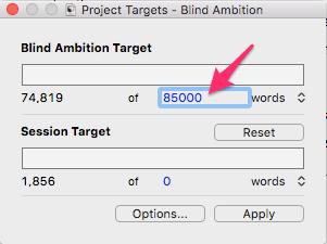 mac entering a manuscript target