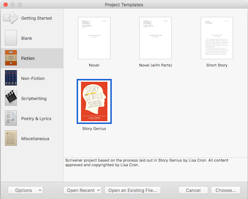 Using scrivener with story genius template in new project window malvernweather Image collections