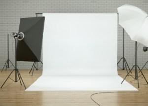 professional photo setup