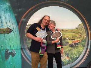 Karen and Tom at Bag End, Hobbiton (Sasquan)
