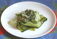 raw zucchini salad + herbs