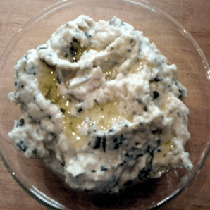 Recipe for white bean and rosemary spread for crackers or crostini