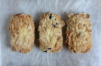 mini blueberry streusel breads | writes4food.com