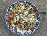 orzo pasta salad with summer vegetables and fresh herbs | writes4food.com