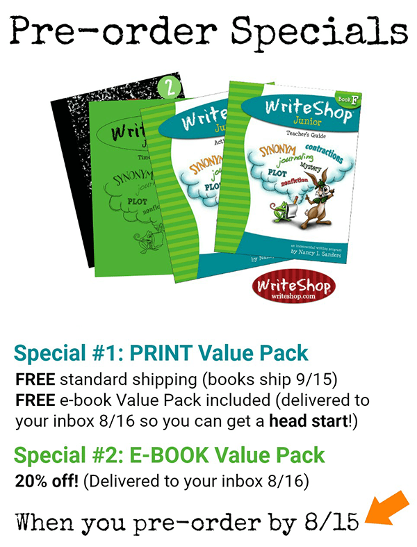 WriteShop Junior Book F | Value Pack Pre-order Details
