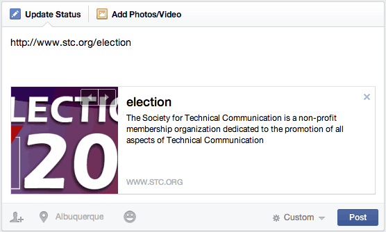 Facebook Preview Box: STC Election