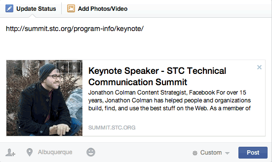 Facebook Preview Box: STC Keynote from STC Summit