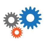 Icon services cog wheels