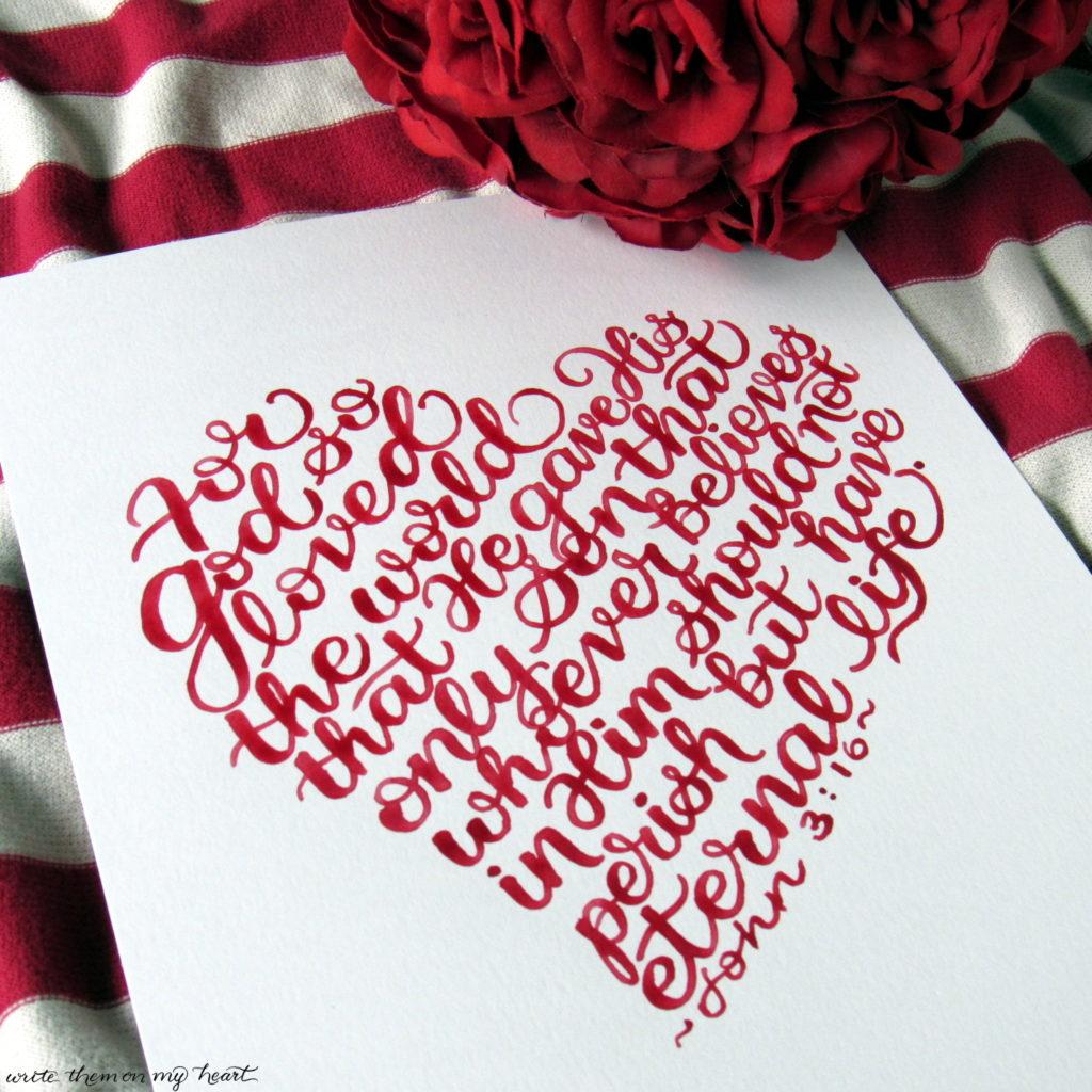 John 3 16 Valentine