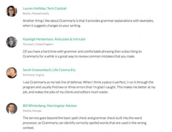 Customer reviews for Grammarly