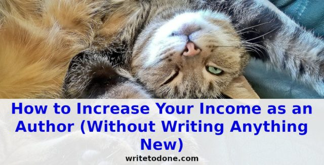 Increase Your Income as an Author - cat