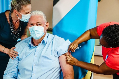 Prime Minister of St Lucia-Allen Chastanet received his second dose of Oxford Astra Zeneca on 26 April 2021.