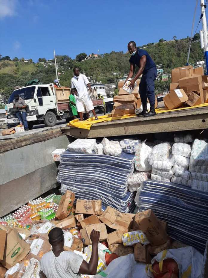 hotos from offloading exercise of Guyana's first shipment to St Vincent and the Grenadines has been posted on Facebook.