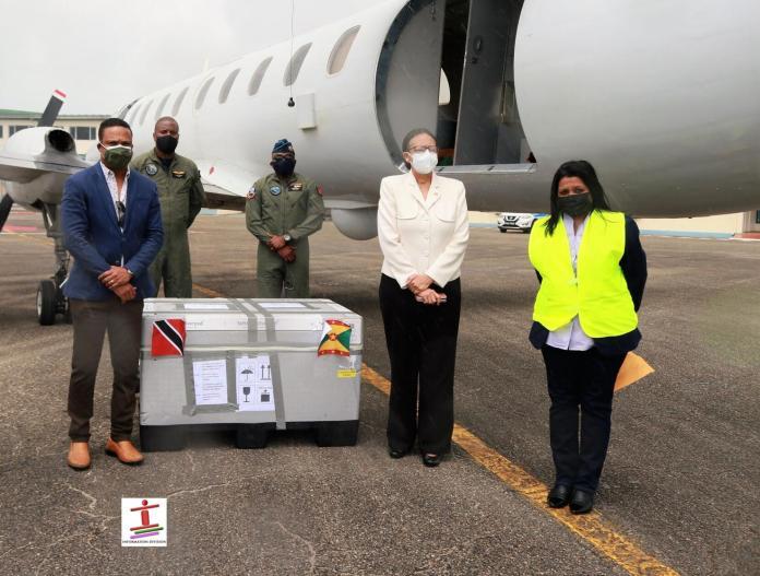 Trinidad and Tobago receives 10,000 AstraZeneca doses from Grenada