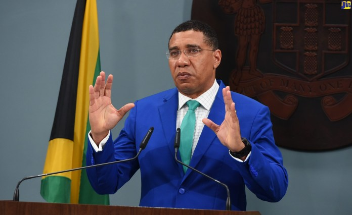PM Andrew Holness urged Jamaicans to get vaccinated