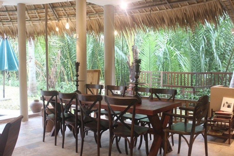 Meditation Retreat Vietnam - Write Your Journey: An Villa Boutique Resort Hoi An, Outdoor seating area can be used for meals and writing