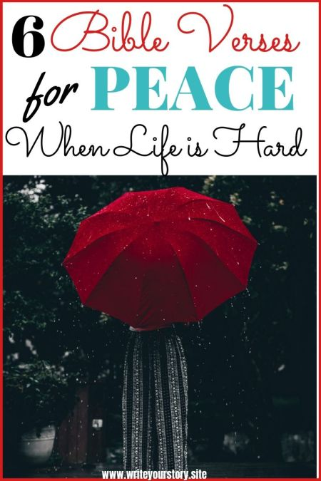 survive a difficult season / peace of God / Bible verses for peace