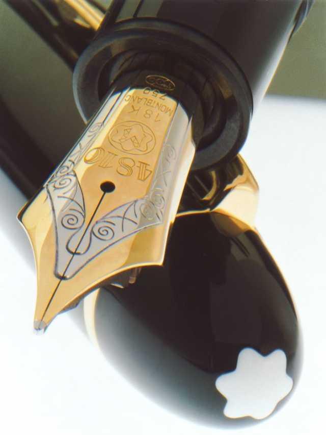 หัวปากกาและตราสัญลักษณ์ของแบรนด์ บนปากกา Meisterstück 149
