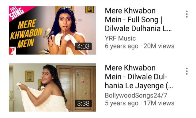 "Kajol's Towel Dance in ""Mere Khwabon mein"" song"