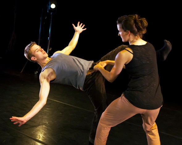 Lewis Wilkins and Eve Ganneau in Second Coming. Photo Maria Falconer
