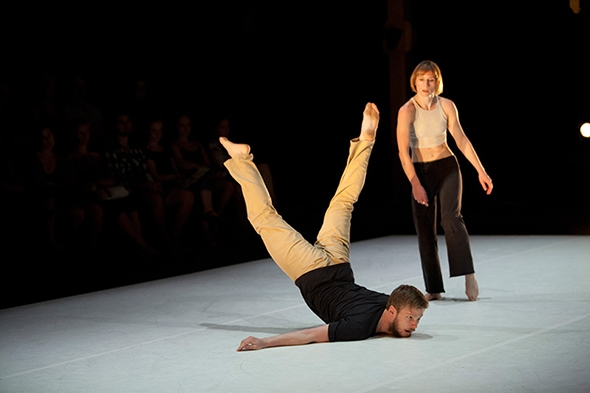Alisdair Macindoe and Sara Black in Stephanie Lake's Dual (photo: Byron Perry)