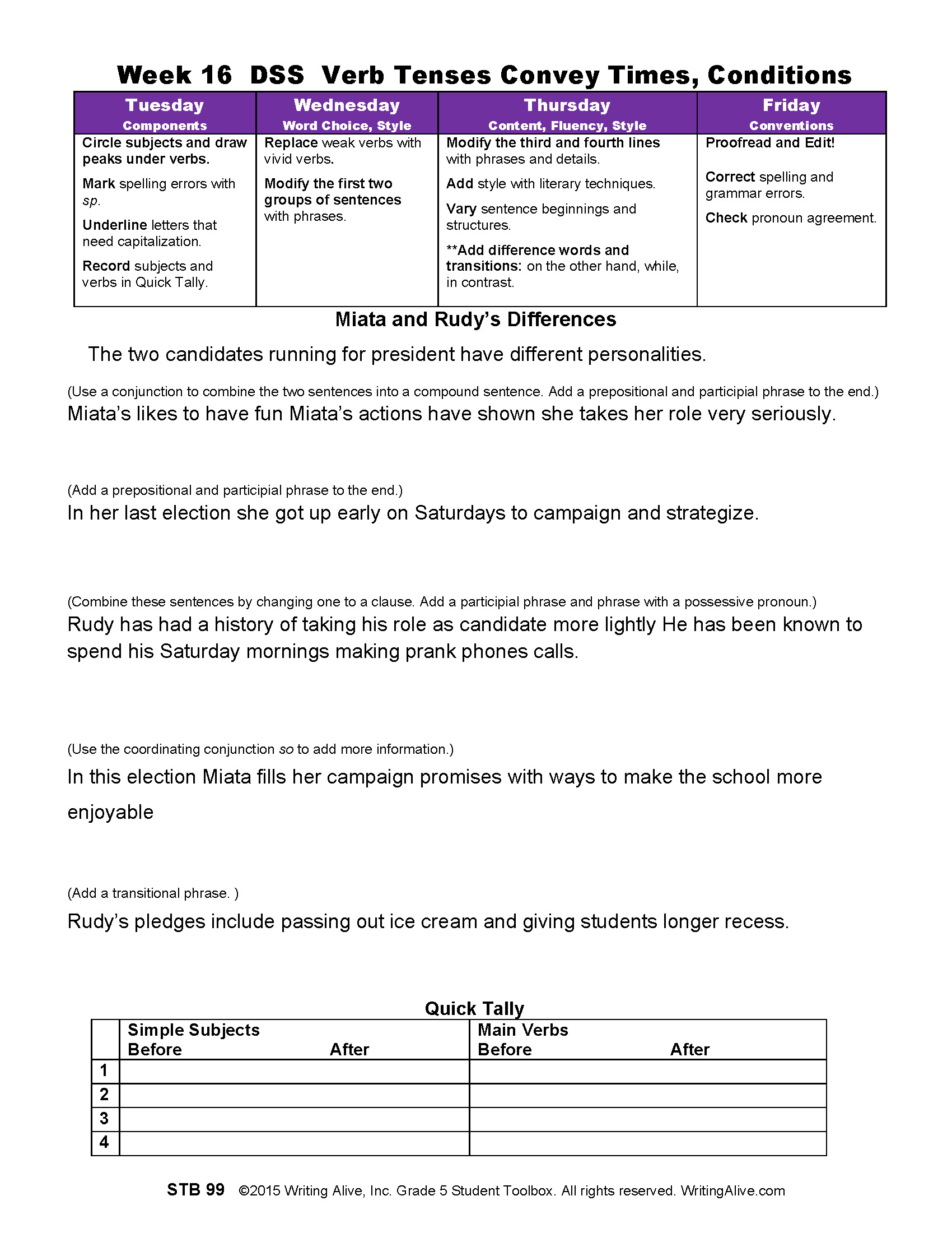 Dss Week 16 Verb Forms And Tenses Convey Times And