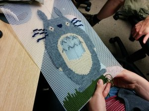 Totoro with grass